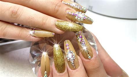 Gold Nail Designs For Acrylic Nails