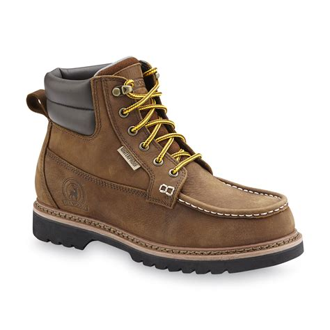 elk woods s brown waterproof work boot shoes s