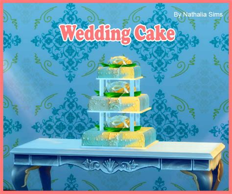 Wedding Cake In The Sims 4 by Wedding Cake Conversion 2t4 At Nathalia Sims 187 Sims 4 Updates