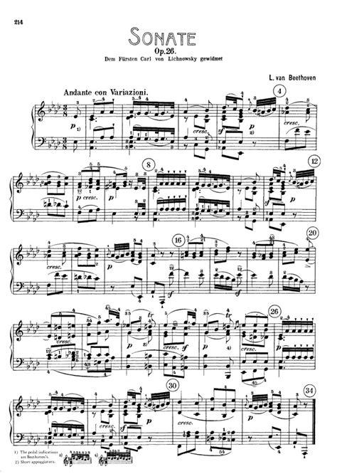 beethoven piano sonata no 12 in a flat major daniel piano sonata no 12 op 26 free sheet by beethoven
