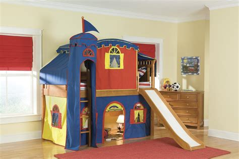 Castle Bunk Beds With Slide Loft Beds With Slide Bunk Bed White Low Loft Castle Loft Bed Playhouse Bed Boys Low