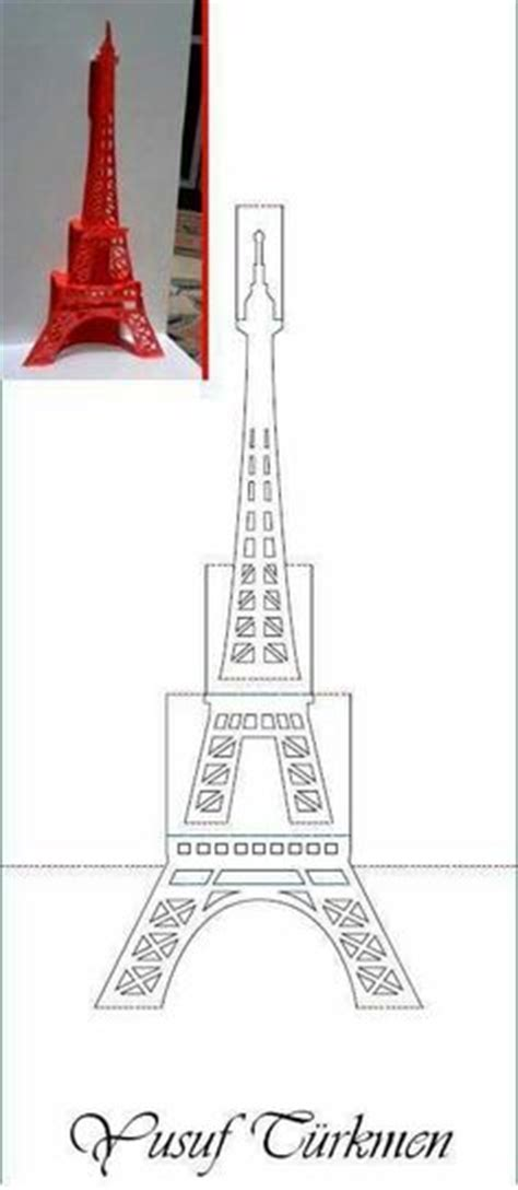 eiffel tower pop up card template pdf plantillas pdf para imprimir pop up cards pop up