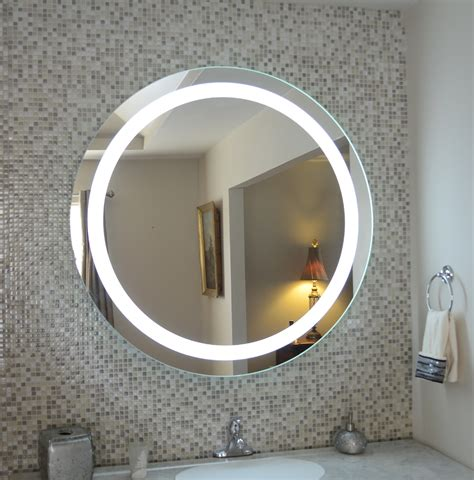 Wall Mounted Lighted Vanity Mirror Led Mam1d40 Commercial Lighted Bathroom Wall Mirrors