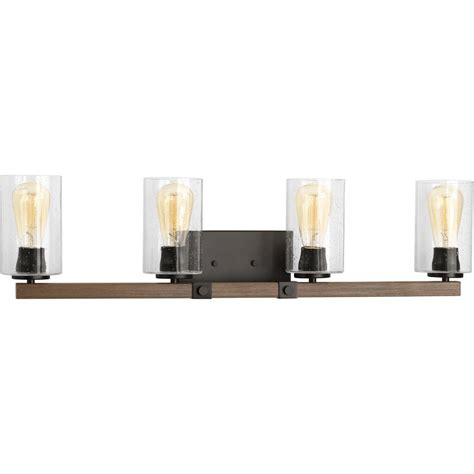 4 light vanity light bronze progress lighting draper collection 4 light antique bronze