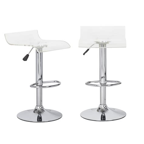 Acrylic Adjustable Bar Stools by Joveco Clear Acrylic Adjustable Barstool With Micro Back