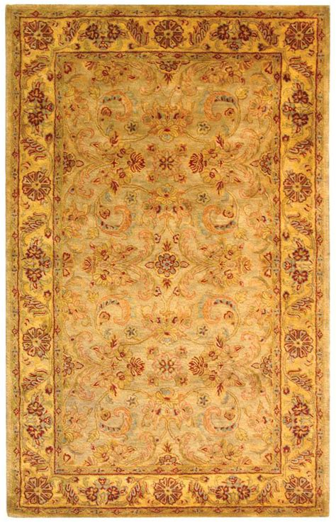 green and gold rug safavieh classic cl324a light green and gold area rug free shipping