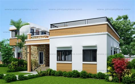 One Story Duplex House Plans rey four bedroom one storey with roof deck shd 2015021