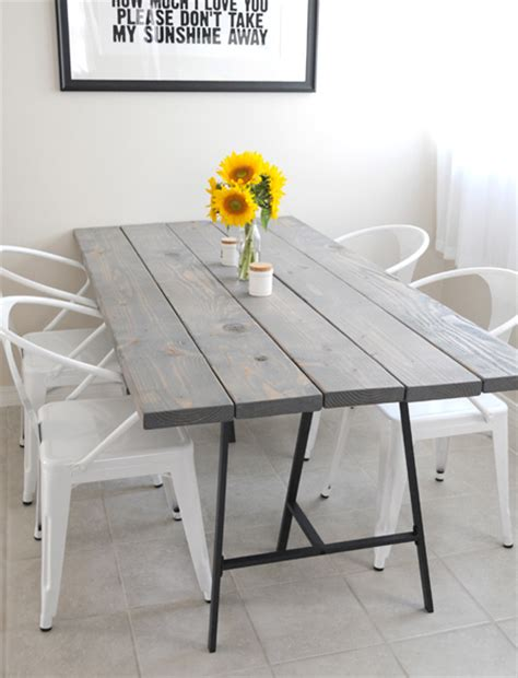 home dzine home decor easy diy tables with trestle legs