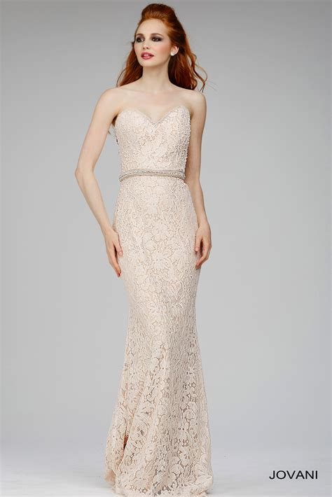 beaded waistband jovani 29010 dress strapless sweetheart bodice beaded