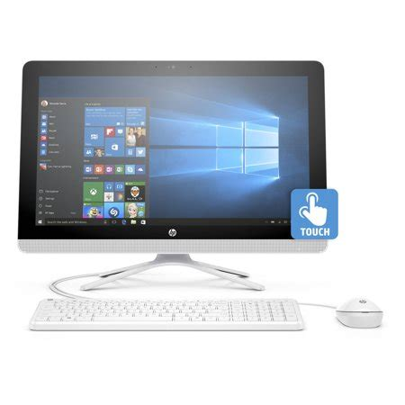 "hp 22 b013w snow white all in one pc with 21.5"" full hd"