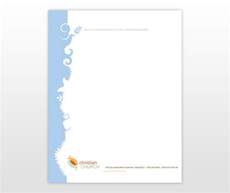 christian letterhead templates free free christian stationery templates
