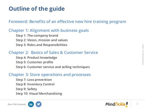 Step By Step Guide To New Hire Training Of Retail Associates Retail Manual Template