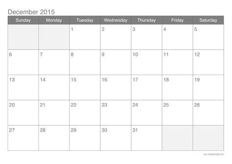 printable monthly calendar for december 2015 december 2015 printable calendar icalendars net