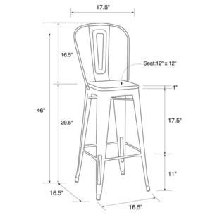 Dhp Luxor Metal Bar Stool by Dhp Set Of 2 Luxor 30 Quot Metal Counter Stools Sears