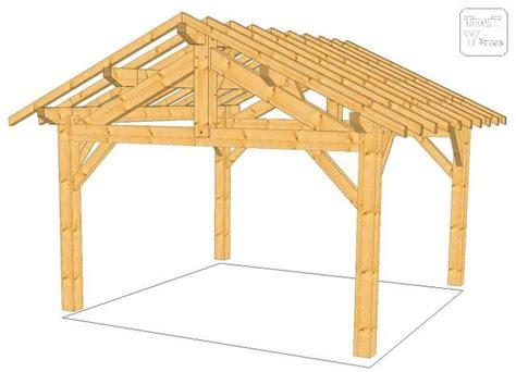 charpente abris bois charpente bois en kit pour garage mzaol