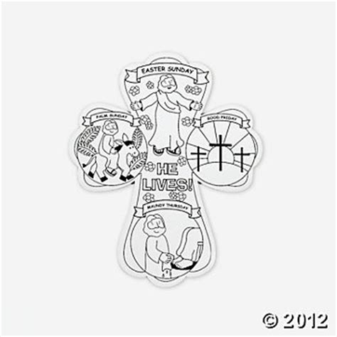 color your own holy week crosses catholic crafts