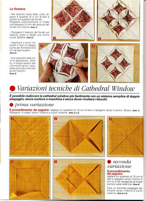 tutorial quilting italiano 120 best quilts cathedral window images on pinterest