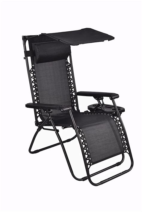 Chair With Canopy And Cup Holder by Zero Gravity Chair With Canopy Sunshade Utility Tray Cup