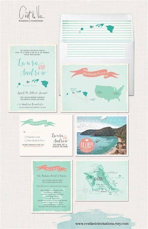Wedding Invitations Oahu hawaii destination wedding invitation oahu wedding aloha