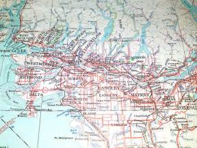 washington canada border map vancouver bc map 1955 an map from 1955 of the
