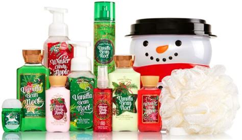 bath body works holiday traditions bucket 10 items for 25