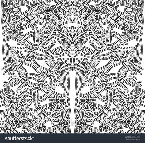 viking pattern vector ornate patterns vikings background hand drawn stock vector