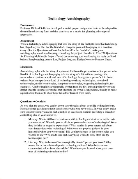 college biography essay exle fine biography format template elaboration exle