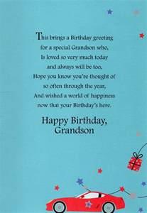 grandson happy birthday greeting card lovely greetings cards verse ebay