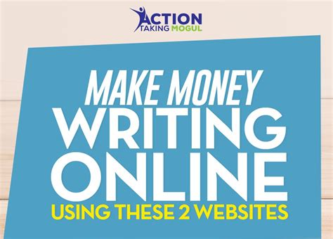Making Money Writing Online - make money writing online using these 2 web sites