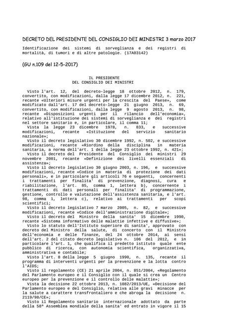 decreto presidente consiglio dei ministri decreto presidente consiglio dei ministri 3 marzo