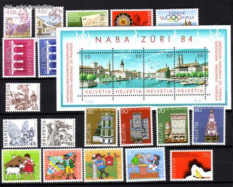 Brief Schweiz Günstig Briefmarken Schweiz Jahrgang 1984 Komplett Michel Nr 1265 1287 Postfrisch G 252 Nstig Kaufen Im
