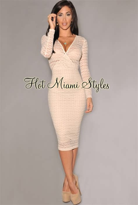 Lace Midi Sleeve Dress lace sleeves midi dress