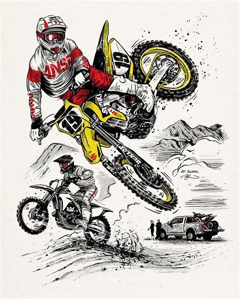 Drawing Y Mx C by Instagram Design Illustration Motocross