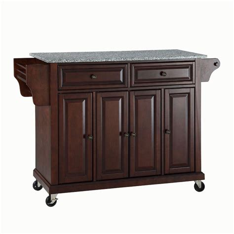 solid wood kitchen island cart crosley 28 1 4 in w wood top mobile kitchen island cart in black kf30021ebk the home