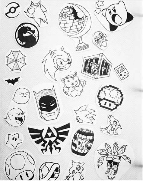 big easy tattoos chariciture sketch minimalist