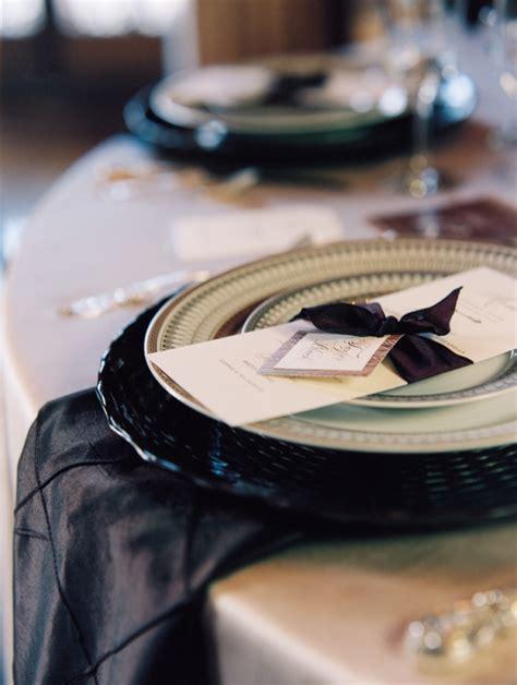 elegant reception table settings elizabeth anne designs black and gold place setting elizabeth anne designs the