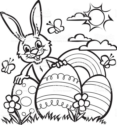Easter Bunny Line Drawings Happy Easter Thanksgiving 2018