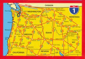 road map pacific northwest usa usa pacific northwest map 1 hallwag maps books travel guides buy
