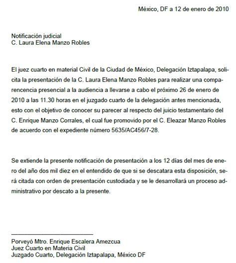Letter Of Agreement Definicion carta de notificaci 243 n gt formatos y ejemplos milformatos