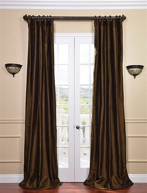 Chocolate Brown Curtains Chocolate Brown Thai Silk Curtains Traditional Curtains San Francisco By Half Price Drapes