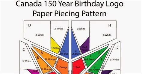pattern paper canada ottawa modern quilt guild canada 150 blocks