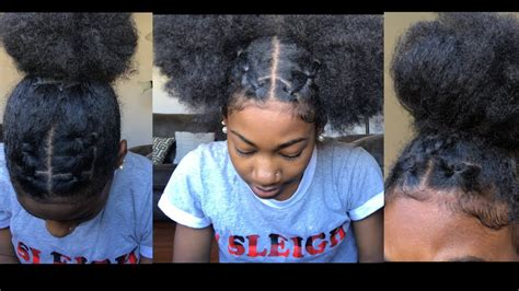 tubber band connect styles trendy rubberband hairstyles on natural hair youtube