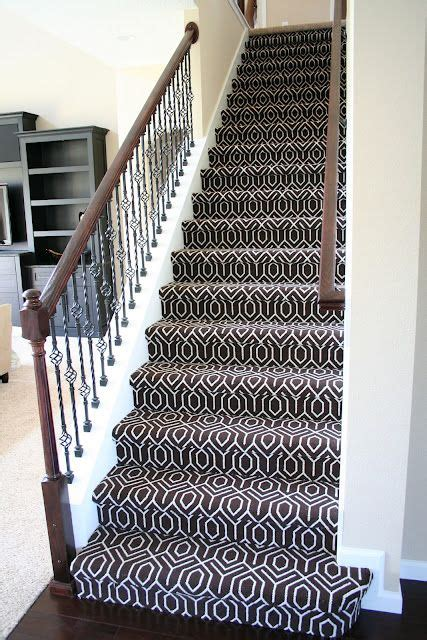 Rug On Stairs by Geometric Stair Carpet Chocolate Tessio Carpet House