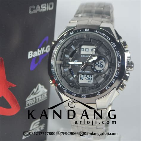 Casio Edifice Efa 133 Black Jam Tangan Casio Edifice Efa 133 Silver Black Murah