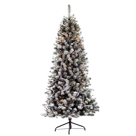 puleo slim snowy cone pine 6 5ft pre lit artificial