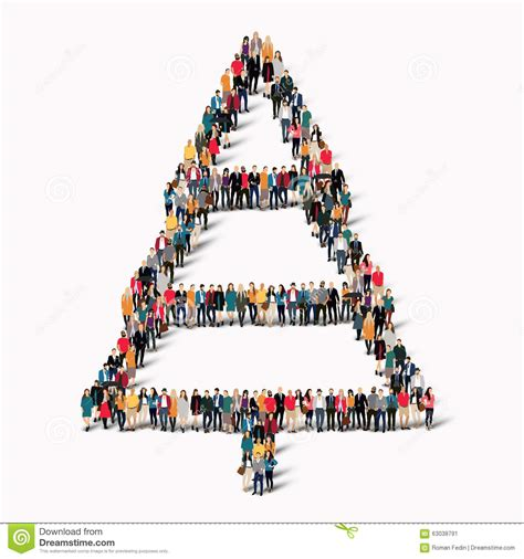 group people shape christmas tree stock vector image