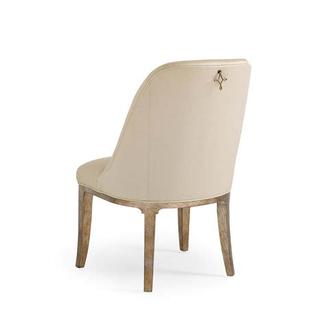 Ring Pull Dining Chair Caracole You Are Pulling My Leg Neutral Side Chair With Decorative Back Ring Pull