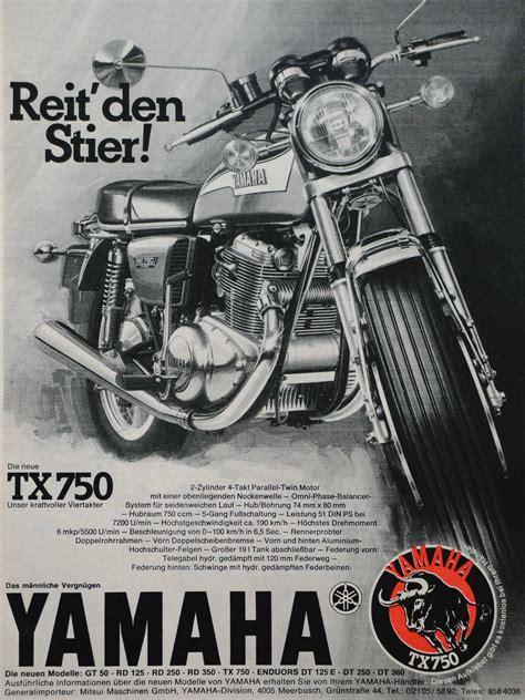Yamaha Motorräder 70er by Yamaha Tx 750 1972 1974 Ritt Auf Dem Stier