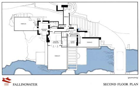 Falling Water Floor Plan | frank lloyd wright fallingwater first floor plan
