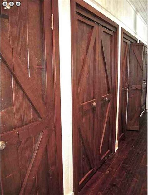 Custom Reclaimed Wood And Mahogany Closet Doors Eclectic Mahogany Closet Doors